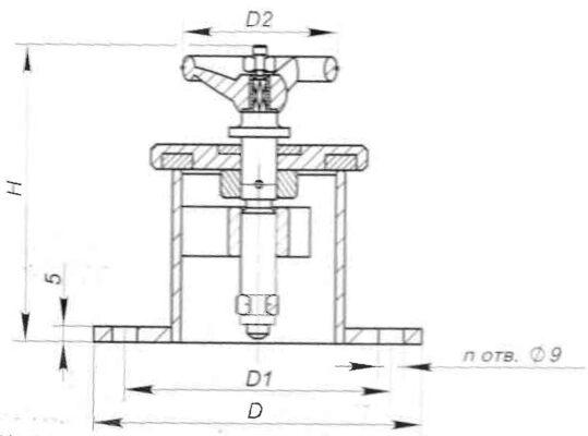 Головки вентиляционные запорные герметичные