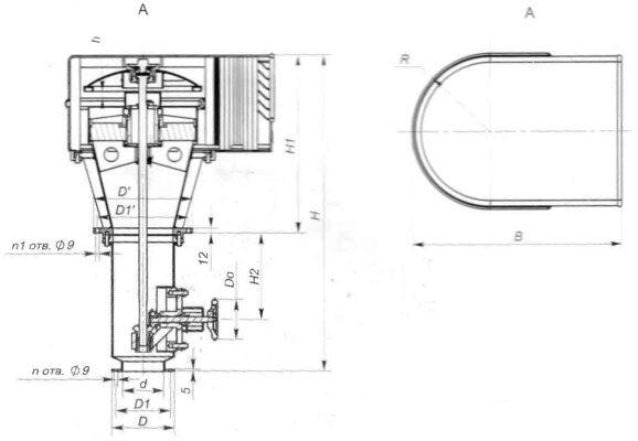 Головки фильтровентиляционные с ручным управлением